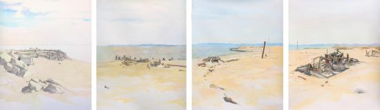 Andrew Dickson's sequence of Salton Sea drawings