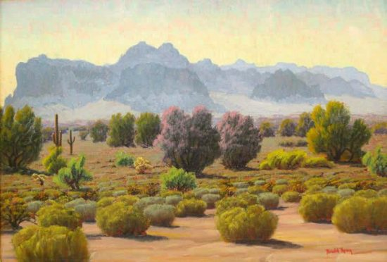 Superstition Spring Time, by Arnold Krug. Courtesy of Blue Coyote Gallery.