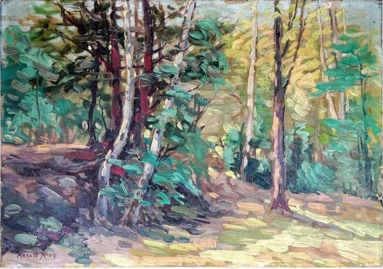 Arnold Krug, Forest Scene, late 1930s. Private Collection.