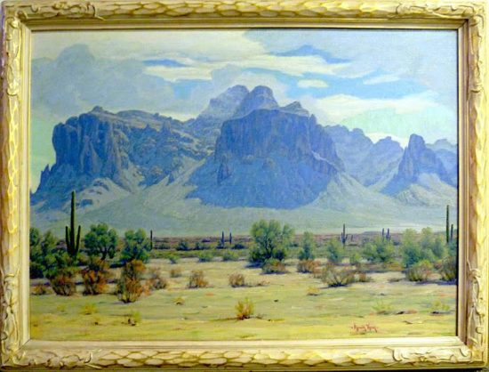 Arnold Krug, Superstition Mountains, 1935. Buckhorn Baths Collection.