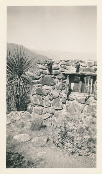 Burt Procter's photo of the rock house where he lived.
