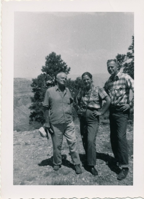 Cabot Yerxa, Katherine and Burt Procter at the Grand Canyon.