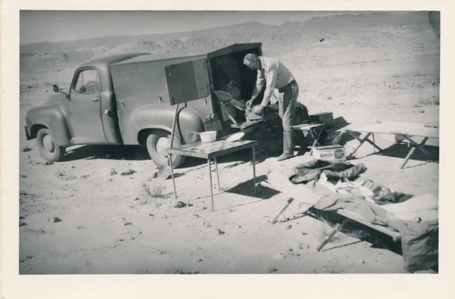 Burt Procter on a camping trip.