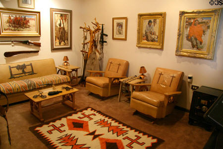 Burt Procter's former studio at Nelson Museum of the West in Cheyenne.
