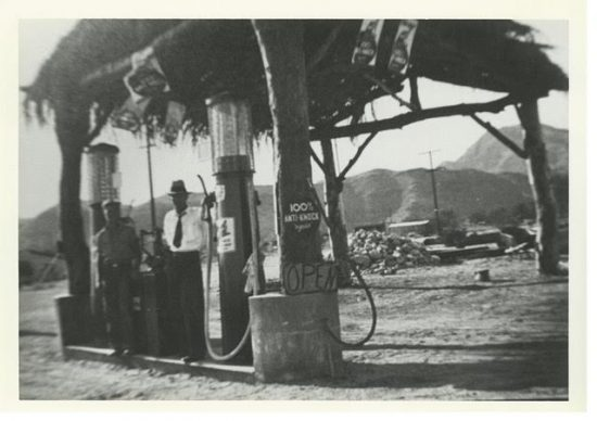An early Cathedral City gas station.