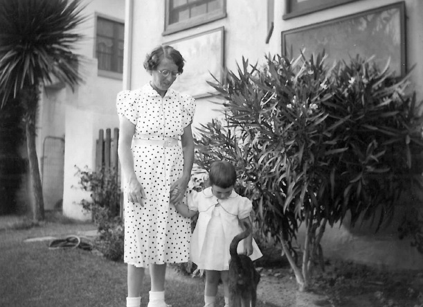 Christine Zimmerman (Carl's daughter) and Rita at Carl Zimmerman's Laguna home.