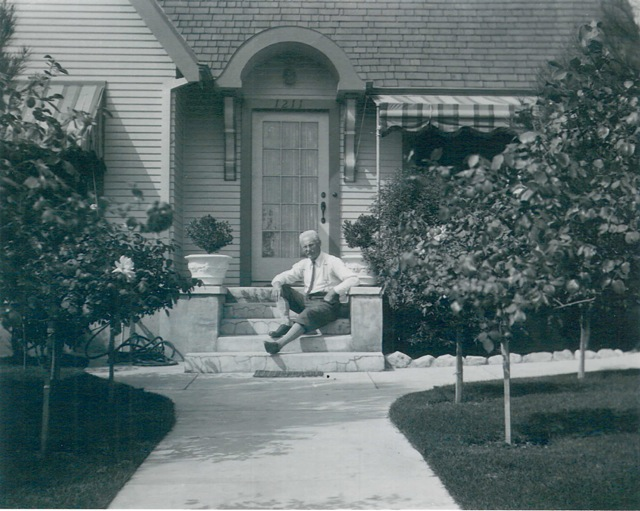 Carl Zimmerman at his Pasadena home, 1211 Yocum.