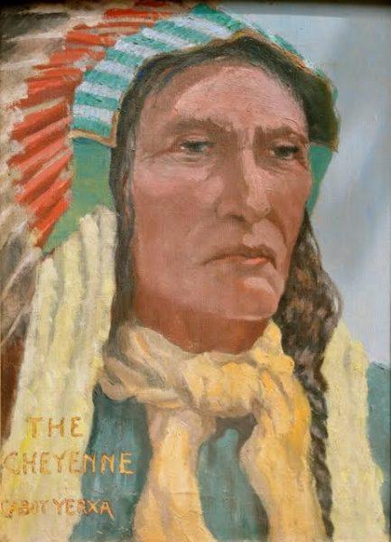 Cabot Yerxa painting, courtesy of Cabot's Pueblo Museum.
