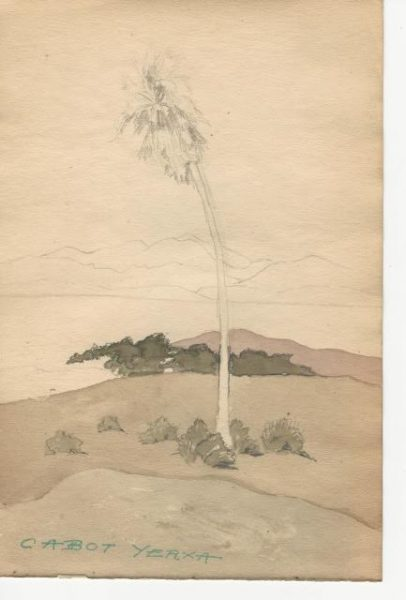 From Cabot Yerxa's sketchbook. Images courtesy of Lauren Segawa, Cabot's Pueblo Museum, City of Desert Hot Springs