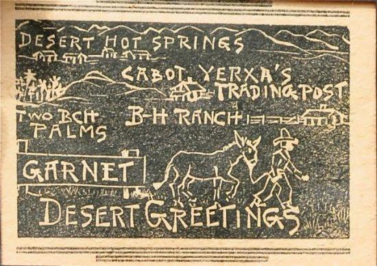 Courtesy of Cabot's Pueblo Museum