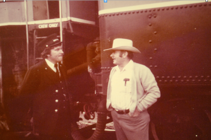 Patrick (in railroad uniform) and Carl Bray