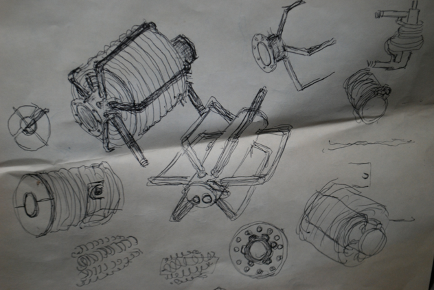 Drawing of one of Carl's inventions.