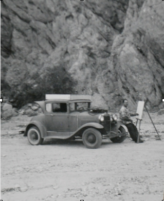 Painting in the canyons, 1930s