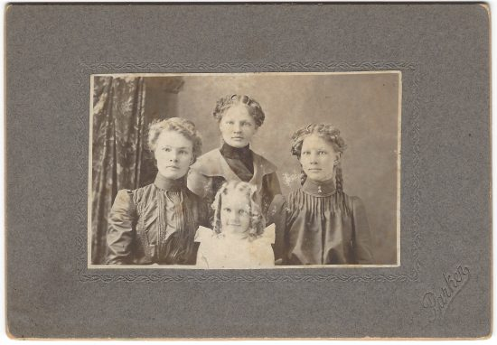 Christina, right, and her sisters Anna Matilda, Marie and Edith.
