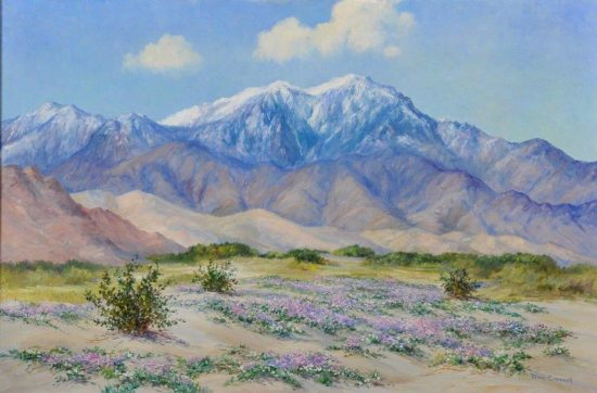 Joane Cromwell, Untitled desert landscape. Collection of Phil and Marian Kovinick. Photo by Martin Folb, PhD.