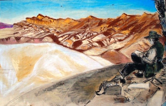 Artist Laureate, by Steven Nakamura. A portrait of Jim Trolinger at Zabriskie Point.