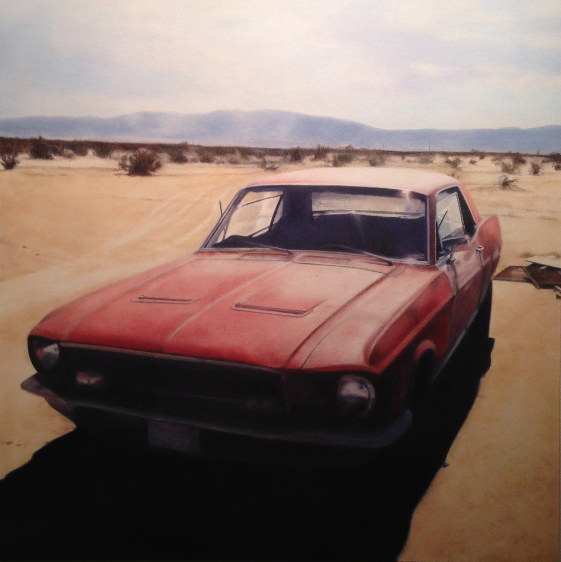Deborah Martin, Mustang. This new painting from the Back of Beyond Series will be at the Palm Springs Fine Art Fair.