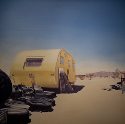 Deborah Martin, Yellow Camper, courtesy George Billis Gallery