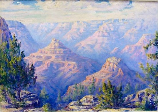 Effie Anderson Smith, a Grand Canyon view from 1928. All images courtesy of Steven Carlson.