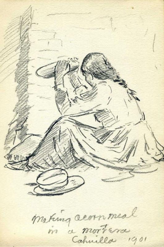 Edward H. Davis sketch, San Diego History Center