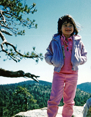 Young Erin Hanson in the Angeles Crest Forest