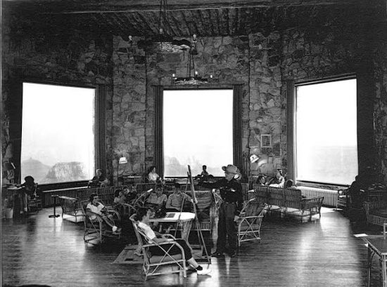 George Frederick at  the Grand Lodge, North Rim of the Grand Canyon, 1953. Courtesy of Southern Utah University.