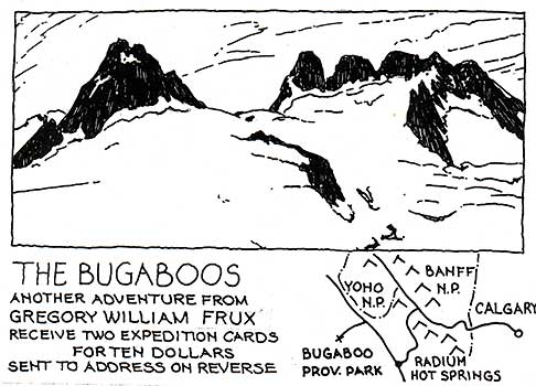A postcard from an expedition to the Bugaboos.