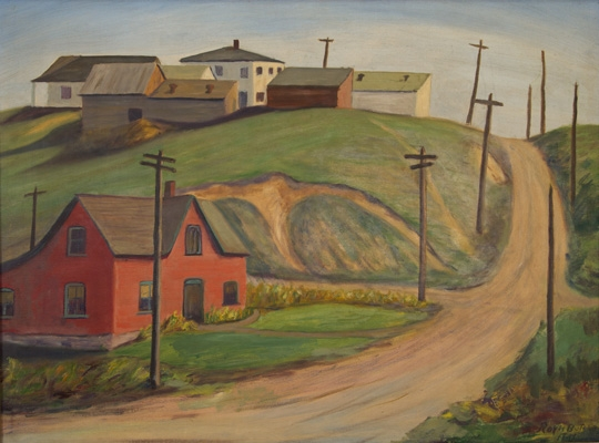 Hill House by Helper, Utah, WPA Artist Roy Butcher