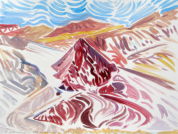 Janet Morgan, Above Kit Fox Hills, Death Valley