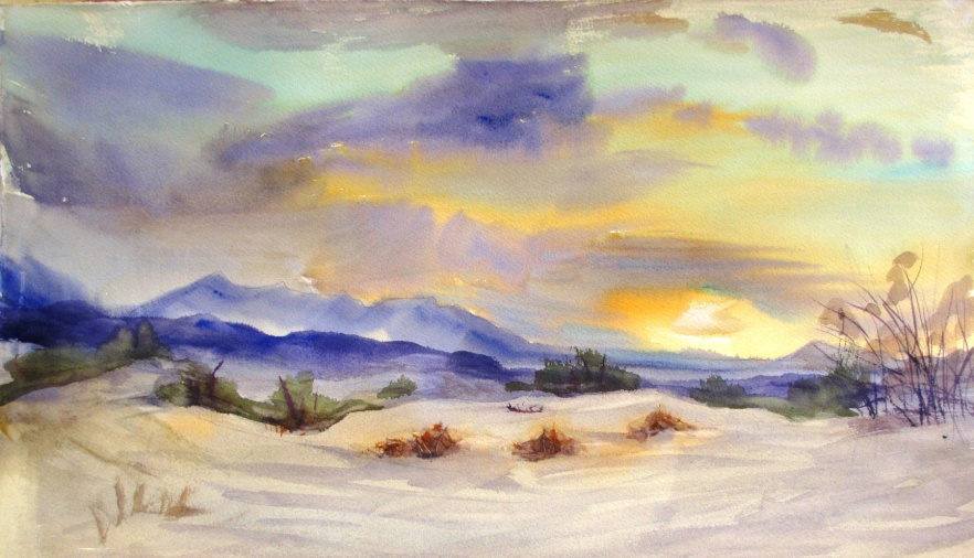 Mesquite Sand Dunes by Anne Wilson