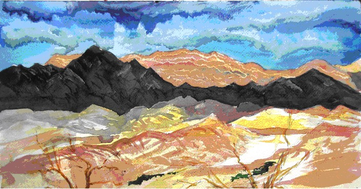 Mountains East of Furnace Creek Ranch by Jim Trolinger