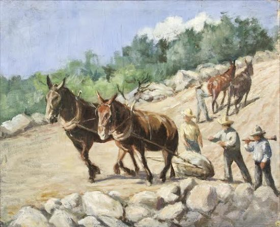 Julia Gunnison Porter, Road Construction in San Diego County. Private Collection.