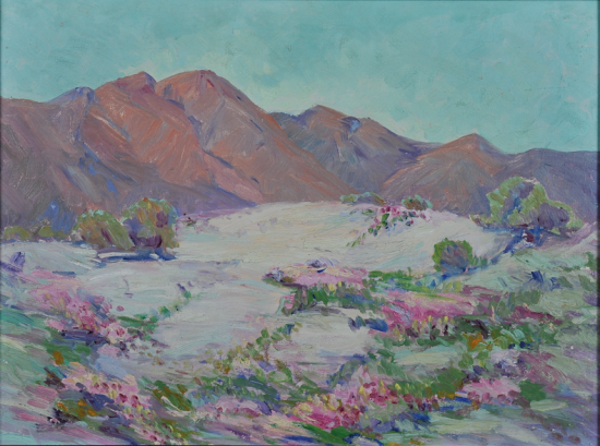 Leta Houston, Sand Verbena Near Indian Wells, Calif. Collection of Valerie Lardner. Photo by Martin Folb, PhD.
