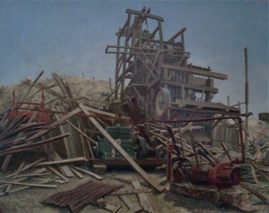 Henry Mockel's painting of Lost Horse Mine, Joshua Tree