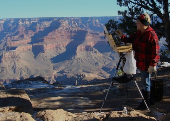 Patricia Sablak-Korzec at the Grand Canyon