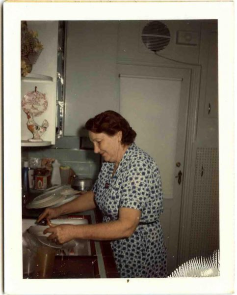 Tillie Grimm in the kitchen of her Palm Springs home.