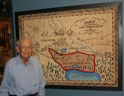 Robert Temple Ayres and his Bonanza map. Photo by Tessie Borden/Autry National Center.