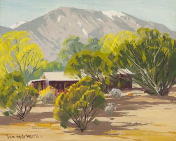 Sam Hyde Harris painting of the Svenska resort in Cathedral City