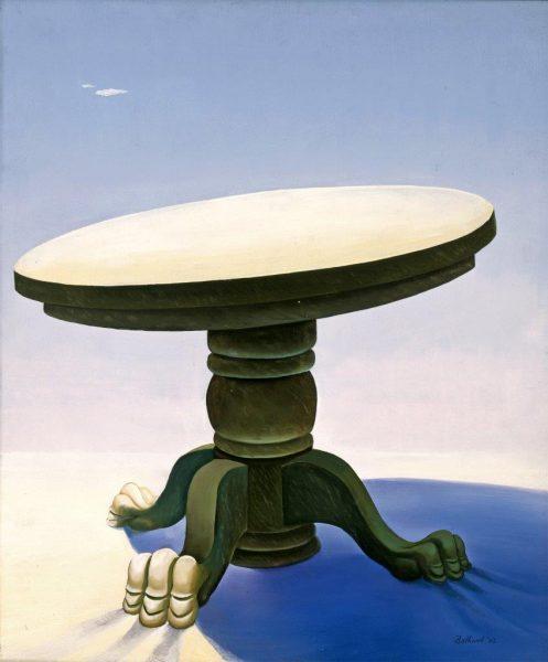 Dorr Bothwell, Table in the Desert, 1942. The Buck Collection.