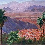 Gunnar Widforss, Desert Palms With Mountains. Courtesy Biltmore Galleries.
