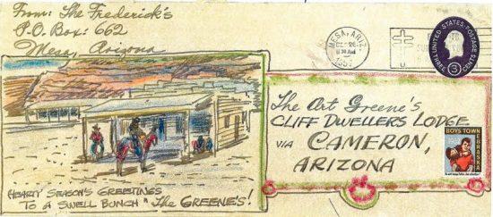Envelope addressed to Art Greene. Greene Family papers, Arizona State University Library.